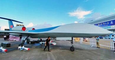China showed a new large strike UAV